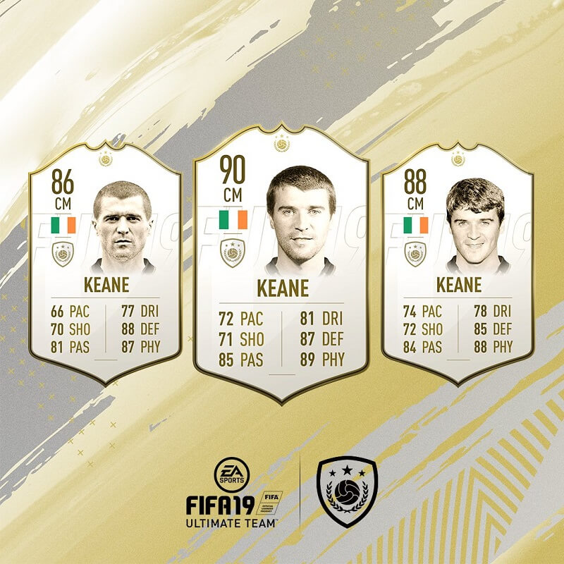 Roy Keane icona in FIFA 19 #ClassOf19