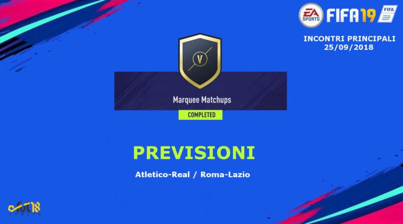 Prediction sui match degli incontri principali del 25 settembre