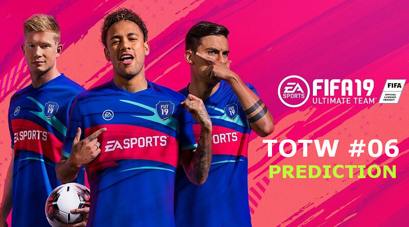 Team of the Week 6 prediction