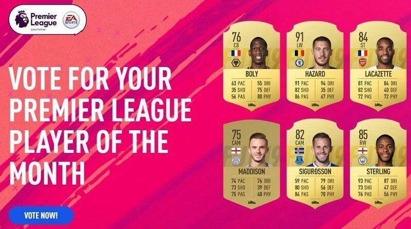 Candidati al premio di POTM per il mese di settembre su FIFA 19