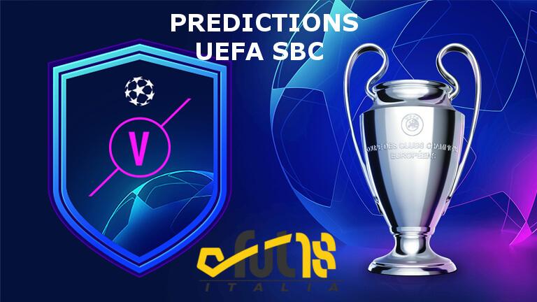 Predictions incontri principali UEFA SBC