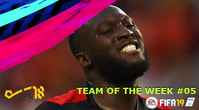 Romelu Lukaku protagonista del TOTW 5 in FIFA 19