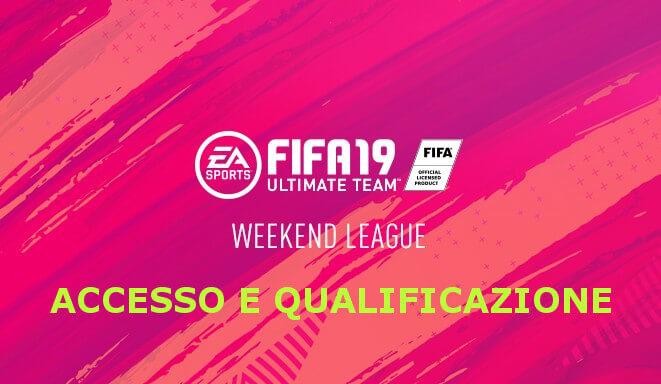 Accesso e qualificazione alla FUT Champions Weekend League