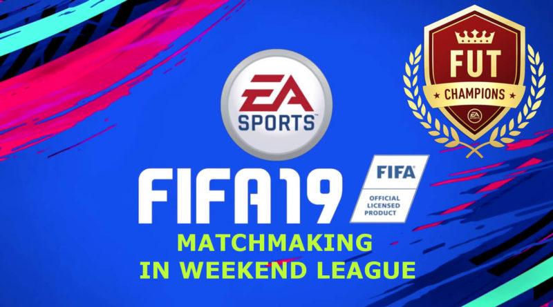 Funzionamento del matchmaking in Weekend League su FIFA 19