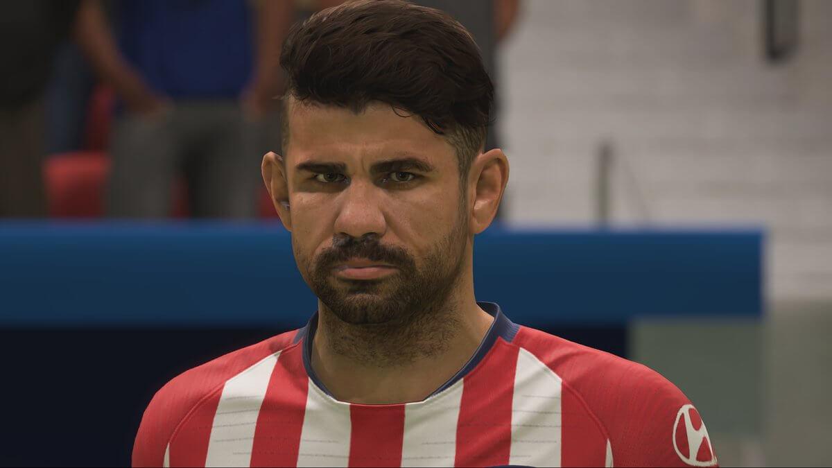 Diego Costa nuovo volto grazie al face scan in FIFA 19