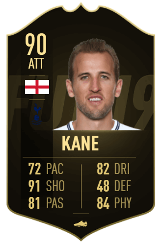 Harry Kane IF 90 TOTW 10 prediction