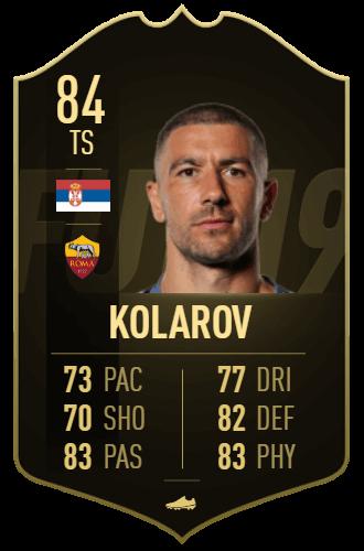 Kolarov IF 84, TOTW 10 prediction