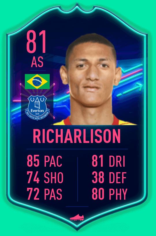 Richarlison IF 81 TOTW 8 prediction