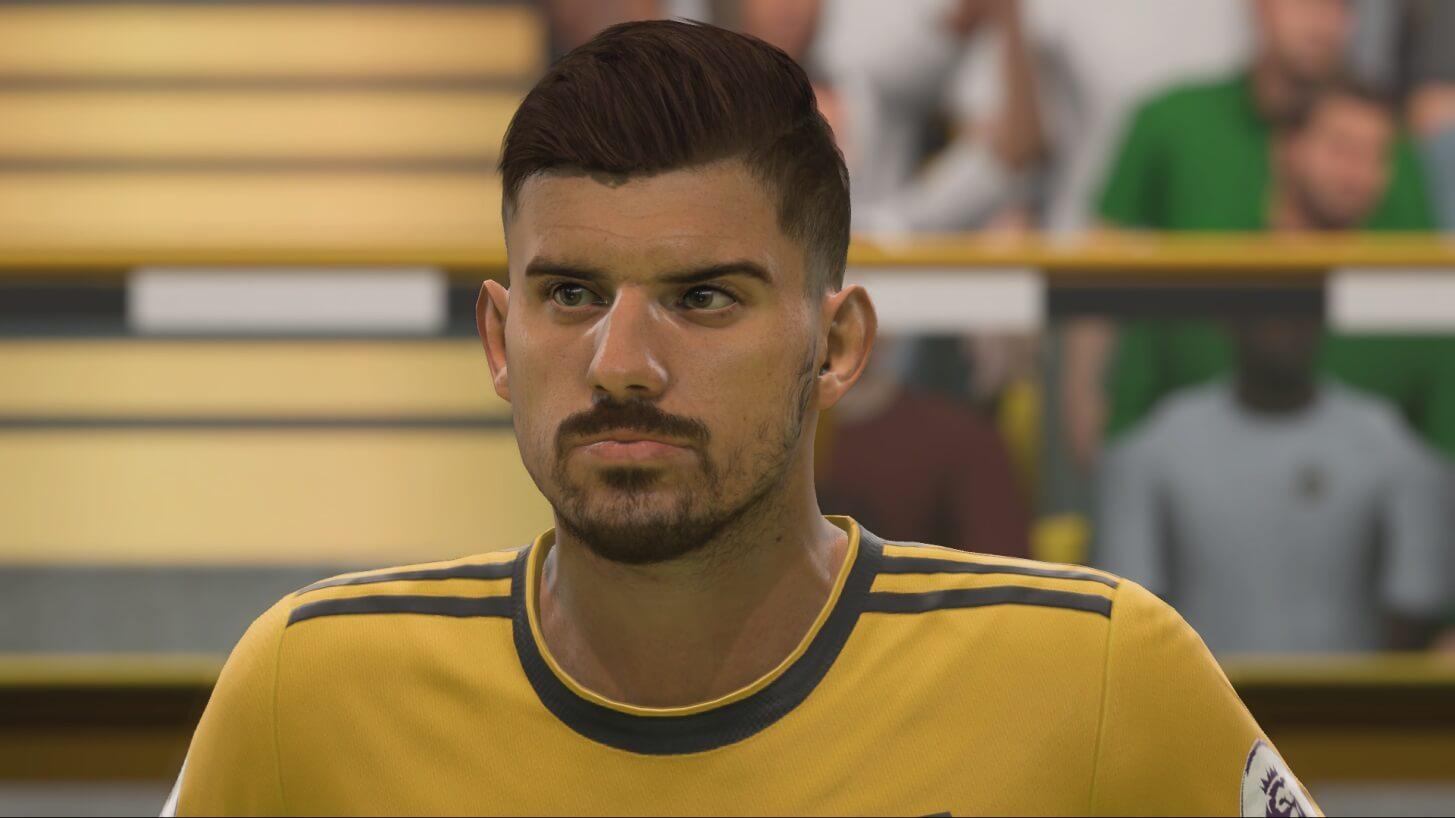 Ruben Neves nuovo volto grazie al face scan in FIFA 19