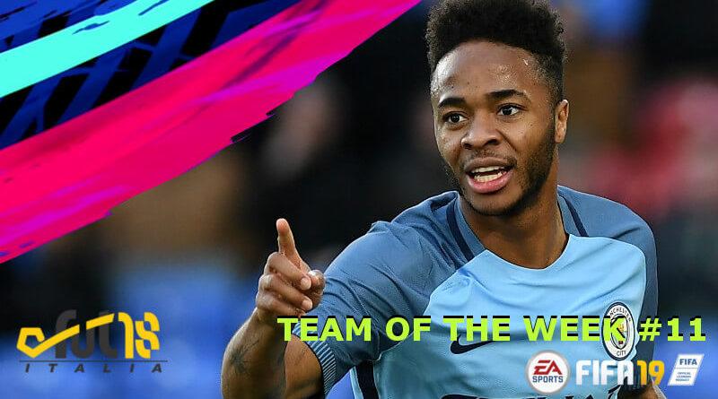 Sterling è il protagonista del TOTW 11 in FIFA 19