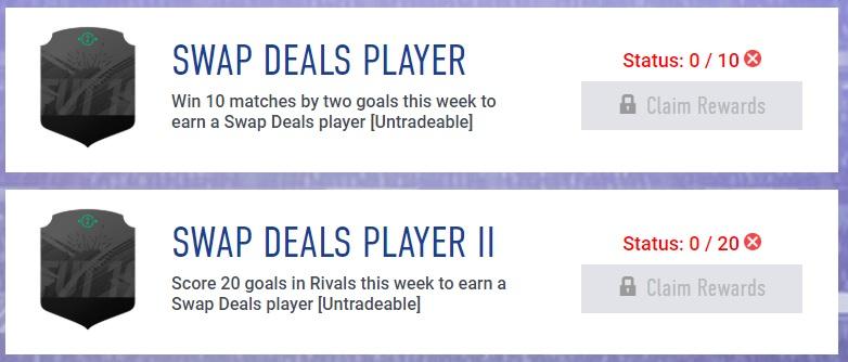 Obiettivi settimanali, come ottenere carte Scambia giocatori di FUT