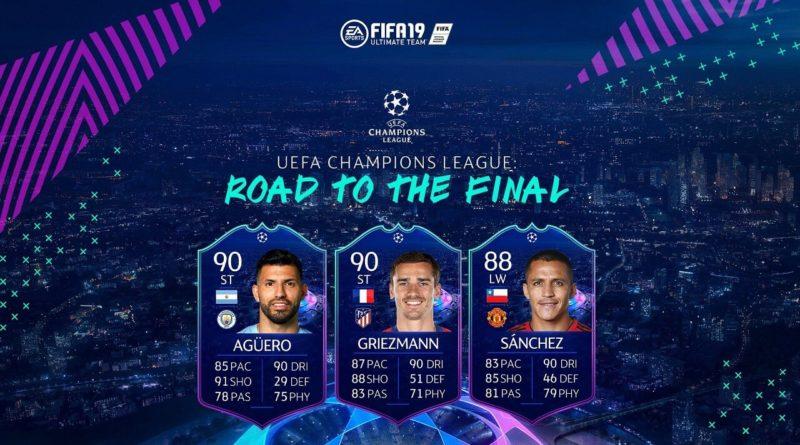FIFA 19 Road to the Final, Aguero, Griezmann e Sanchez