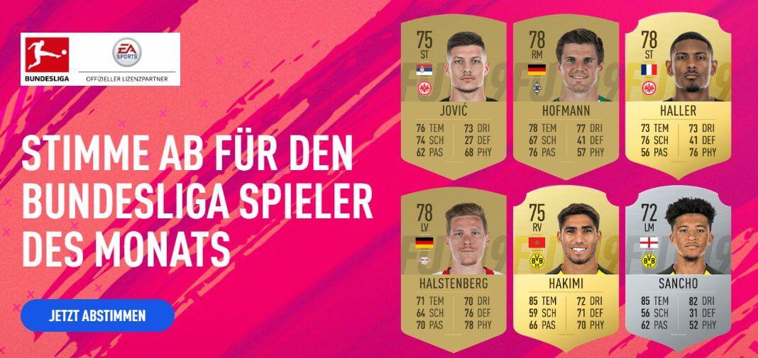 Candidati alla vittoria del POTM di ottobre della Bundesliga