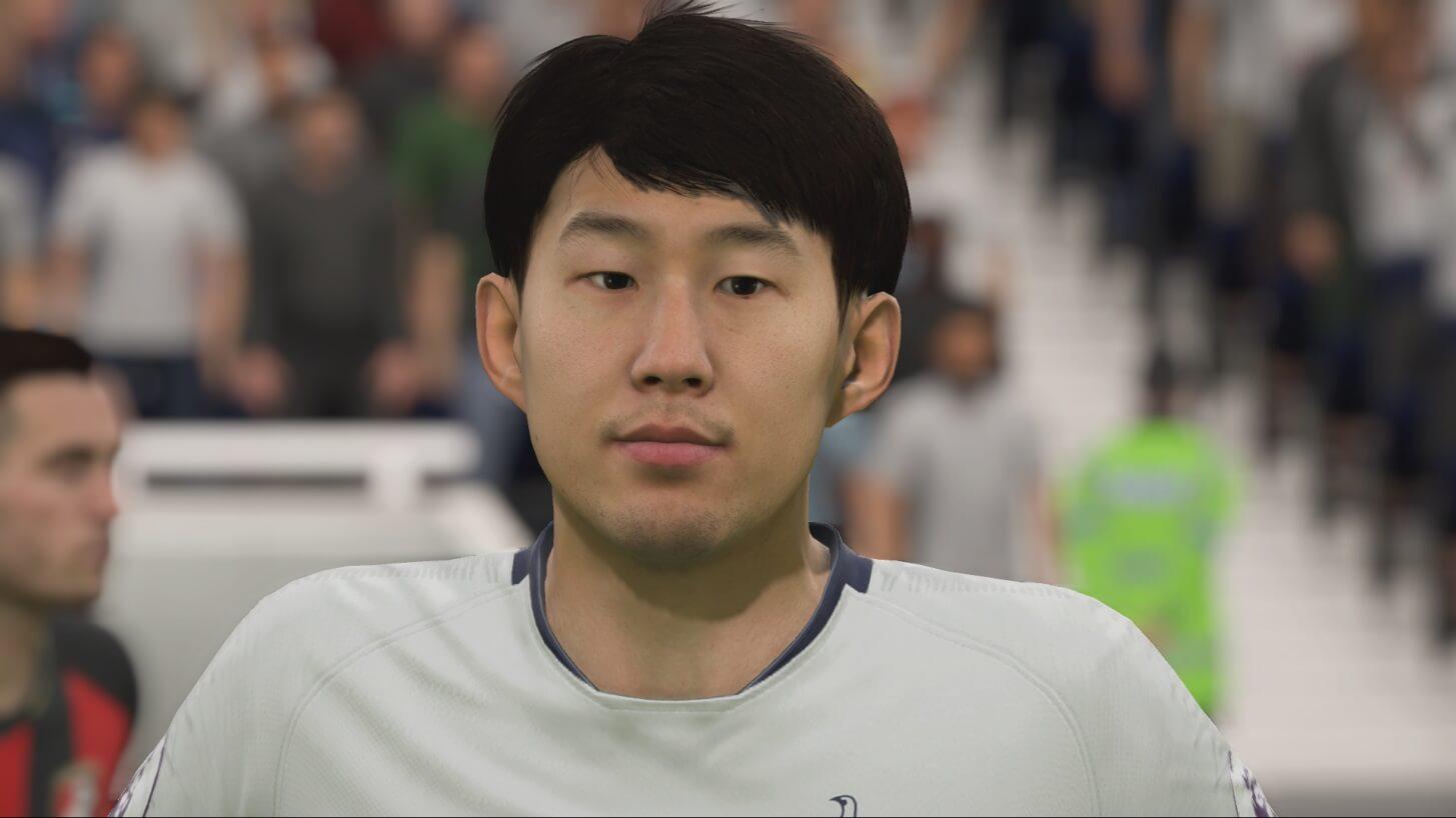 Heung Min Son nuovo volto grazie al face scan in FIFA 19