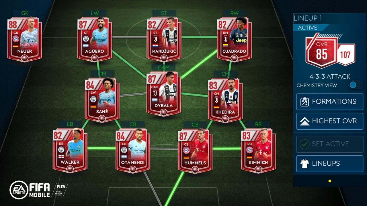 Intesa di squadra su FIFA Mobile