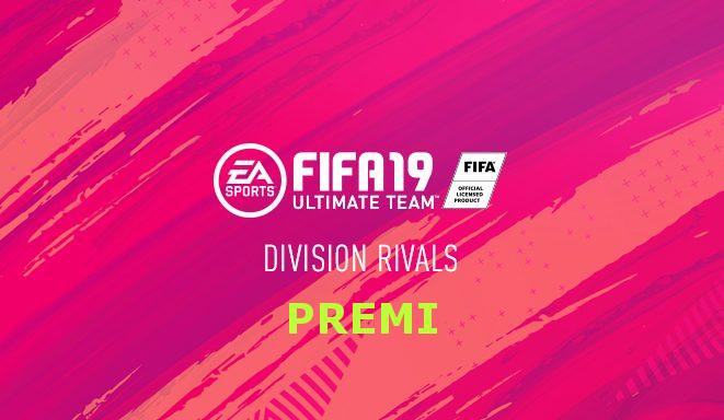 Premi della modalità Division Rivals divisa per livello e divisione di appartenenza