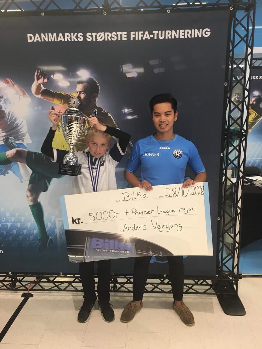 Anders Vejrgang, vincitore del torneo competitivo di FUT 19 in Danimarca