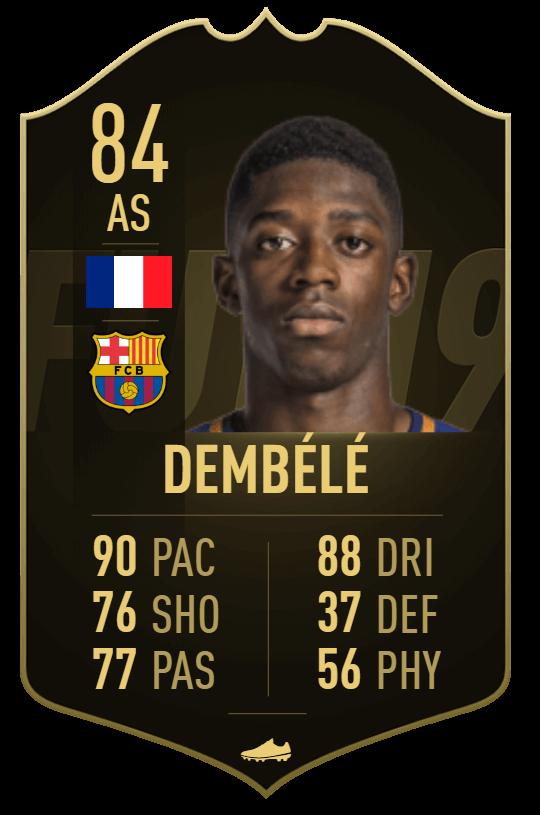 Ousmane Dembélé IF TOTW 13 prediction