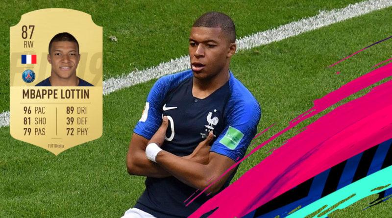 Review di Kylian Mbappé Lottin 87 in FIFA 19