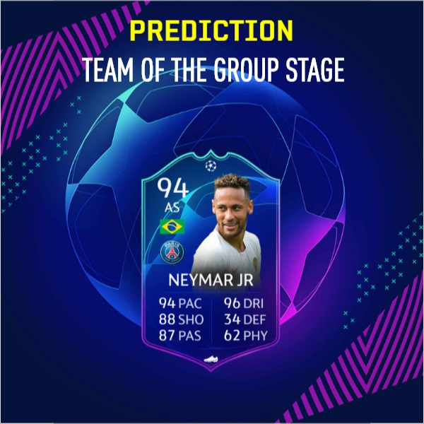 Neymar Jr 94, TOTGS prediction
