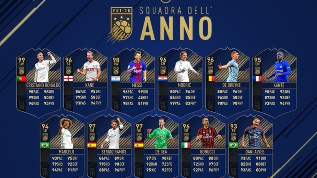 La Squadra dell'Anno in FIFA 18 Ultimate Team