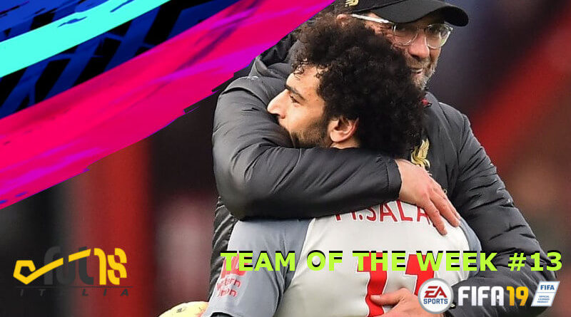 Salah nel Team of the Week 13