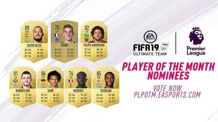 Candidati al premio di POTM di novembre in Premier League