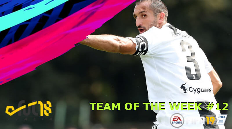 Giorgio Chiellini 90 nel Team of the Week 12