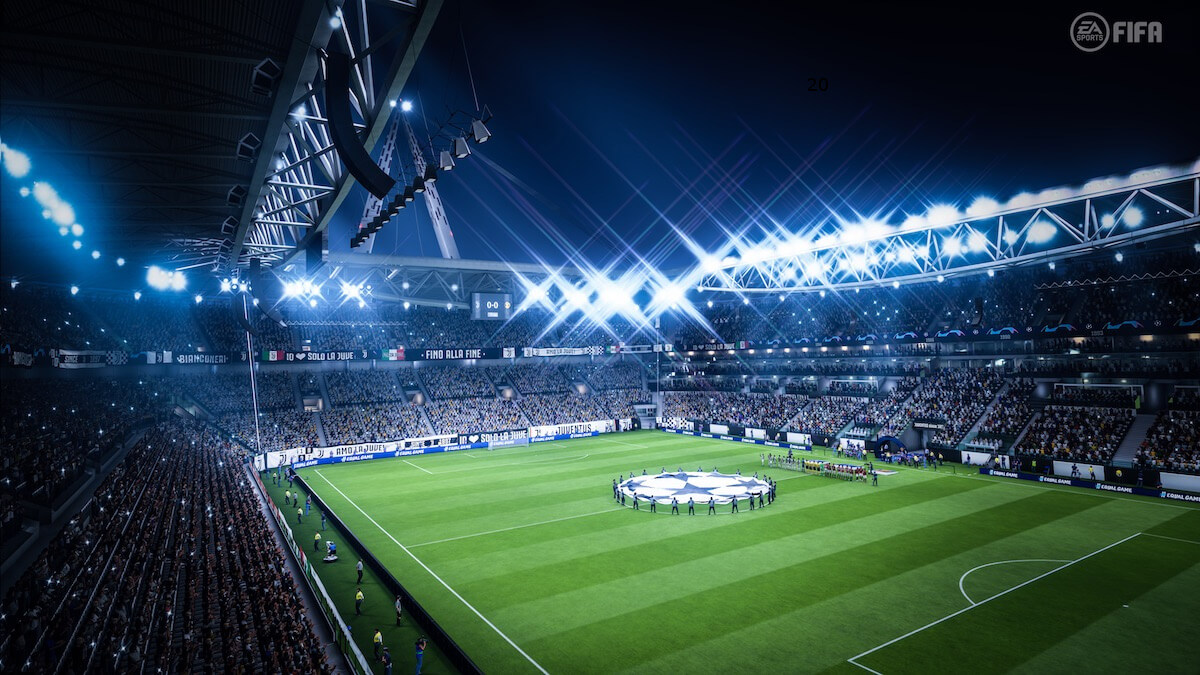 Allianz Stadium durante un match di Champions League in FIFA 20