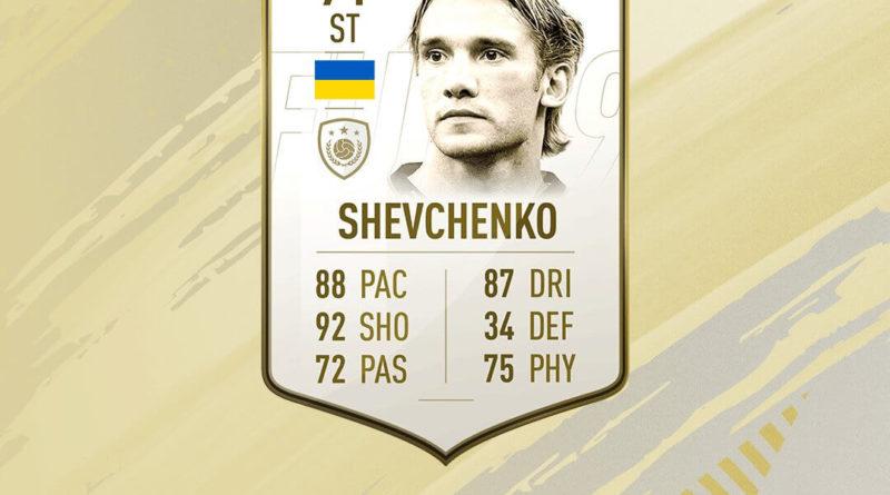 Andriy Shevchenko Icon prime sfida creazione rosa