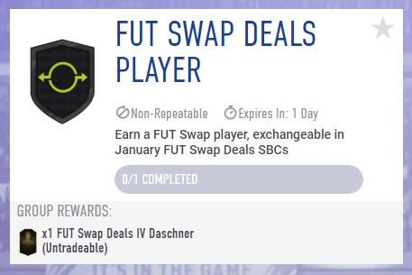 FUT swap deals SBC gennaio