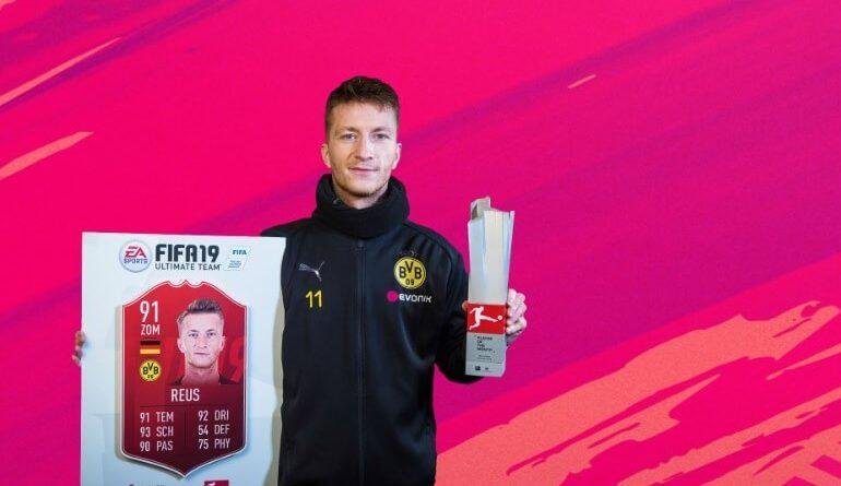 Marco Reus vincitore del POTM di dicembre della Bundesliga