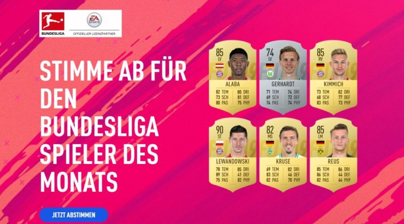 Candidati al premio di Giocatore del Mese di dicembre della Bundesliga