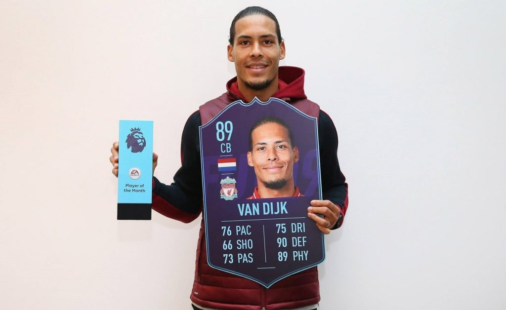 Virgil Van Dijk POTM del mese di dicembre della Premier League