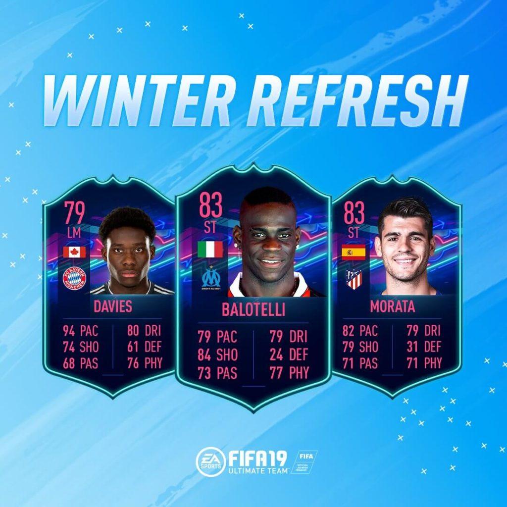 Winter refresh FIFA 19 - Davies, Balotelli e Morata