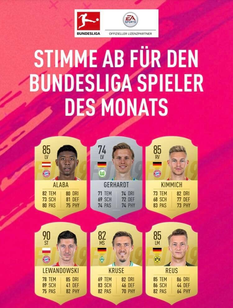 Candidati al premio di POTM di dicembre della Bundesliga