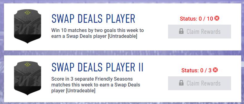 Scambia giocatori di FUT di gennaio disponibili negli obiettivi settimanali