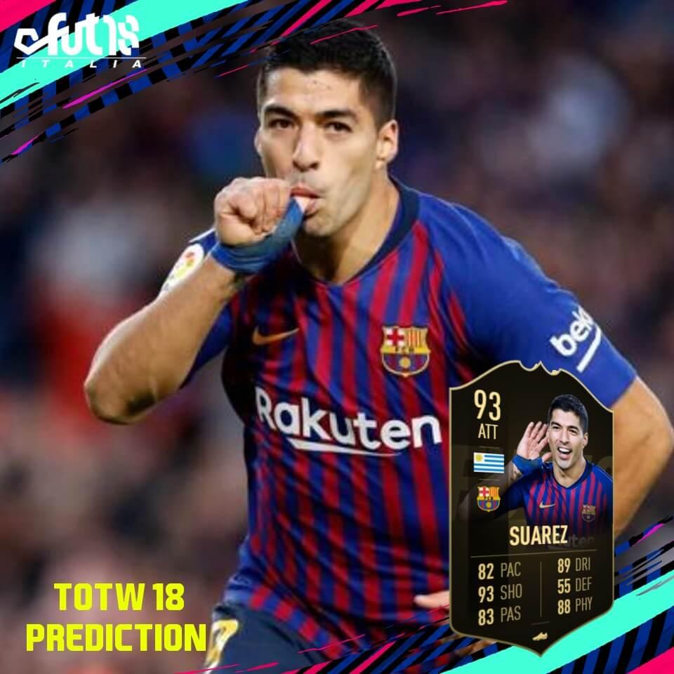 Luis Suarez SIF 93, prediction per il TOTW 18