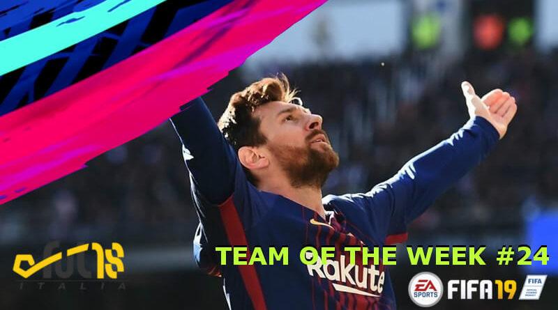 Messi 97 nel TOTW 24 in FIFA 19