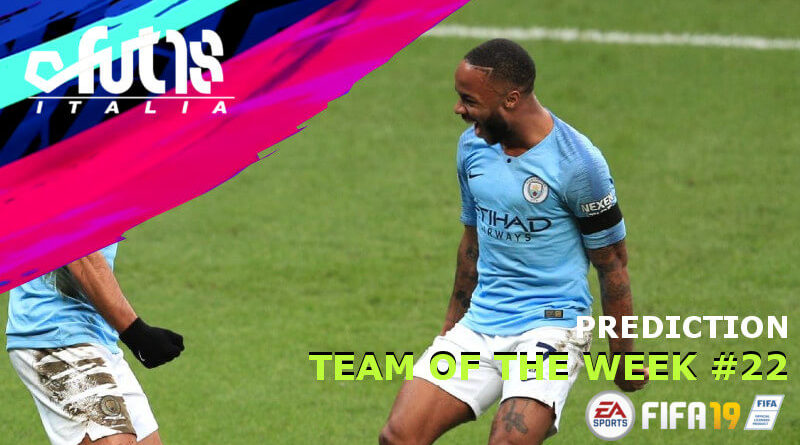 TOTW 22 prediction - Sterling nel Team of the Week 22