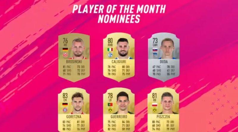 Candidati alla vittoria del POTM di gennaio in Bundesliga