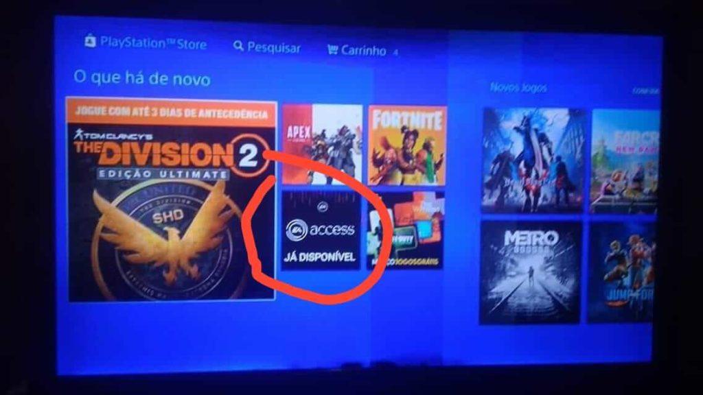 EA Access nel PSN Store su PS4 del Brasile