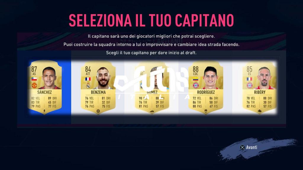 FIFA 19 FUT Draft - Scelta del capitano