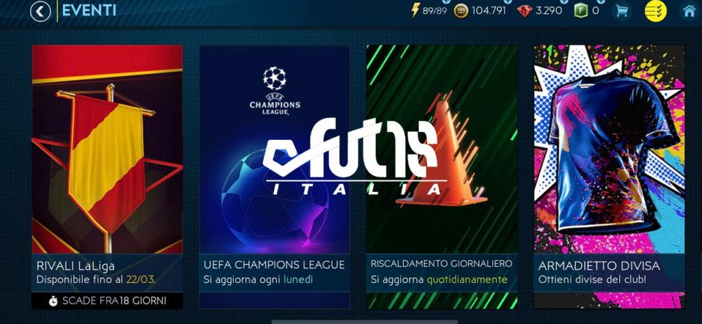 FIFA Mobile - Modalità Eventi