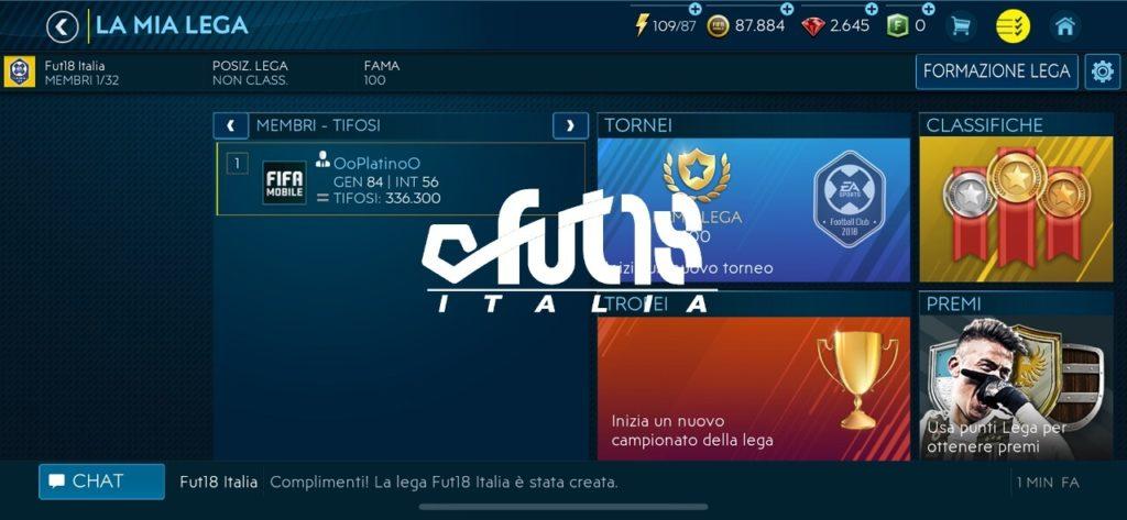 FIFA Mobile - Modalità La Lega