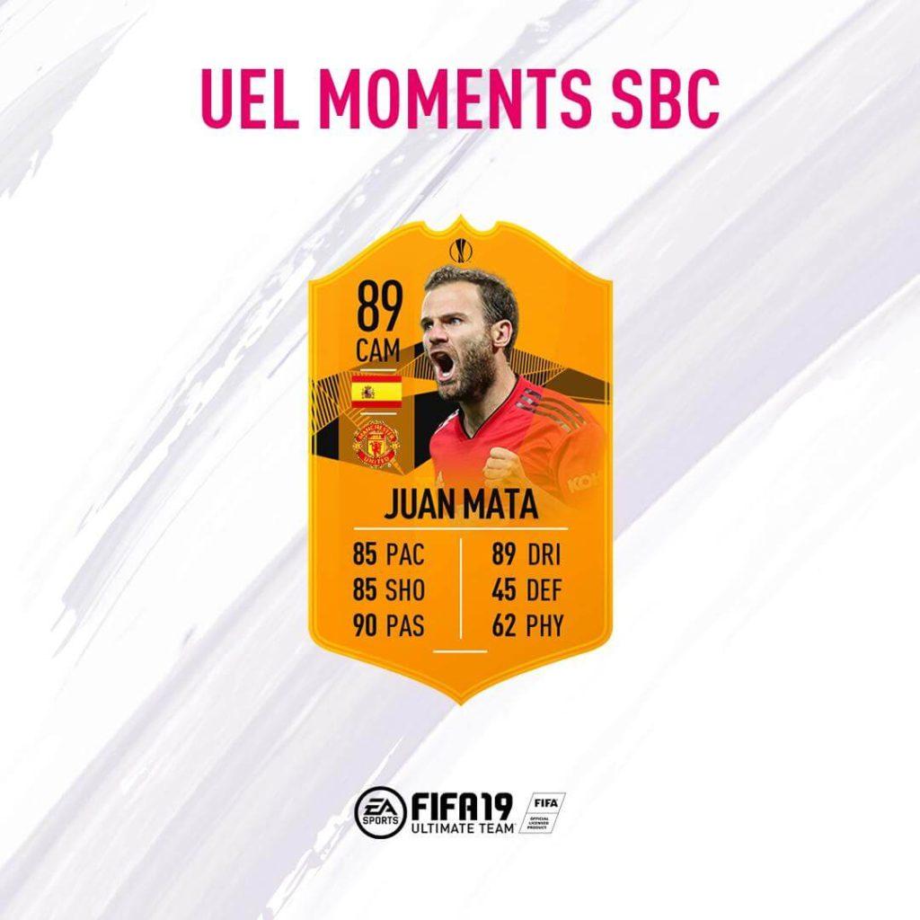 Juan Mata 89 Europa League Moments SBC