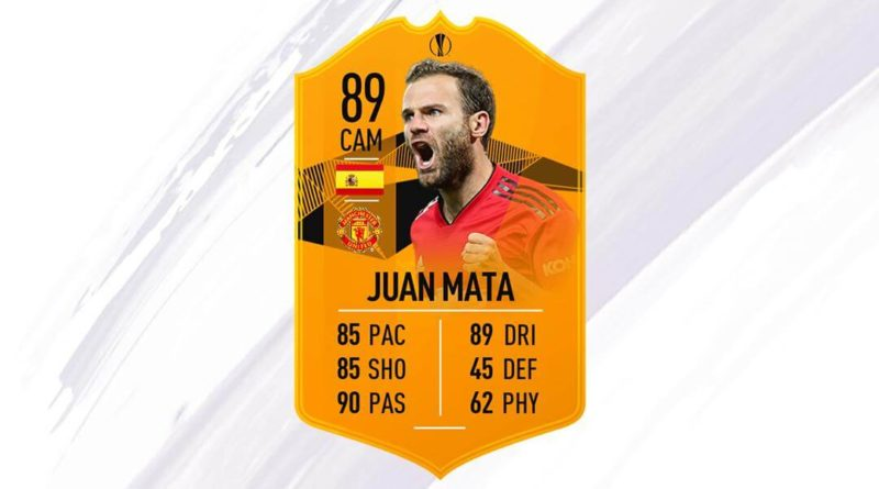 Juan Mata 89 Europa League Moments SBC