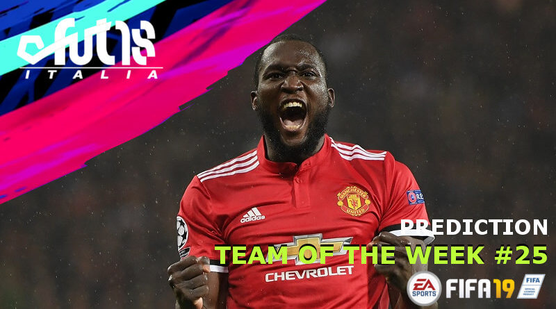 Romelu Lukaku - TOTW 25 prediction