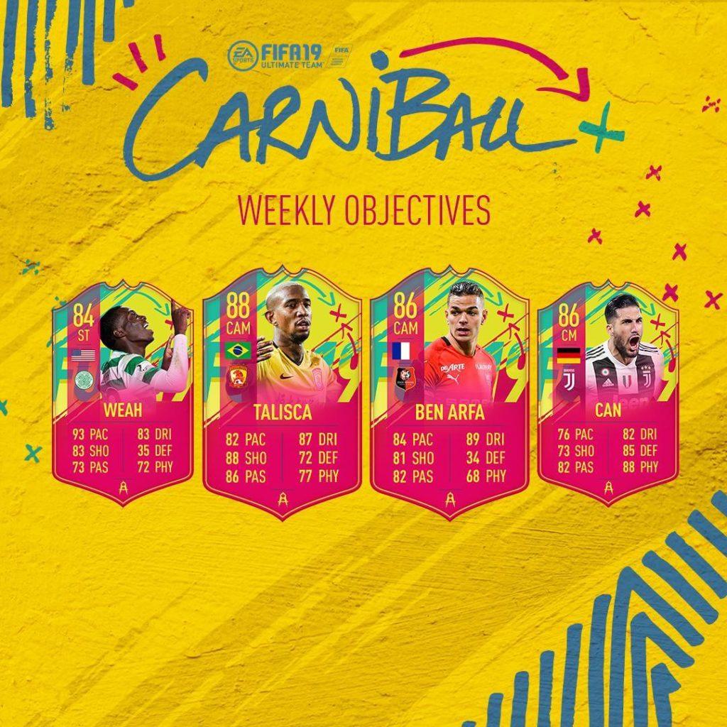 Obiettivi settimanali del Carniball