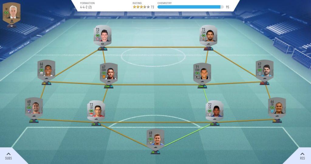 Rosa argento del Brasile in FIFA 19